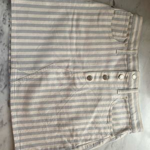 NEVER WORN Madewell striped button up mini skirt